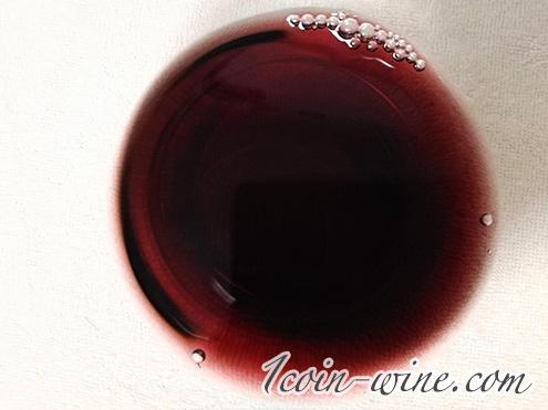 シャトー・メルシャン 藍茜 のワインの色